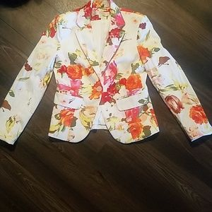 Boston Proper Jackets & Coats - 💖BOSTON PROPER FLORAL BLAZER!!!